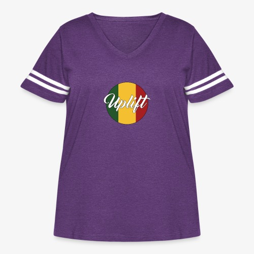 Uplift Rasta Basic // - Women's Curvy Vintage Sport T-Shirt