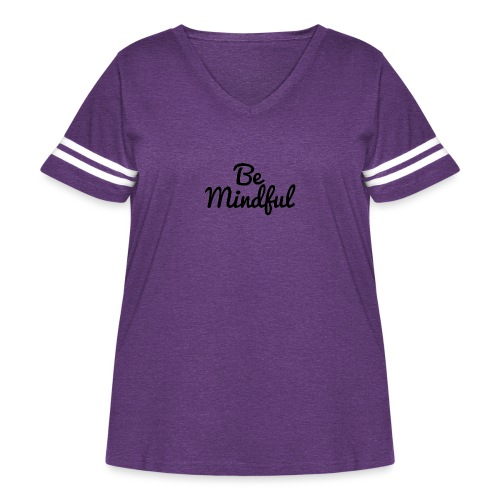Be Mindful - Women's Curvy Vintage Sport T-Shirt