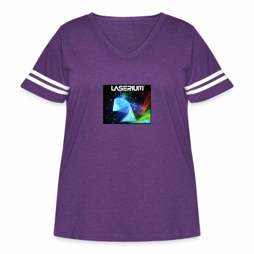 LASERIUM Laser spiral - Women's Curvy Vintage Sport T-Shirt