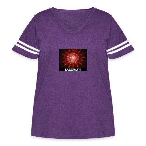LASERIUM Laser starburst - Women's Curvy Vintage Sport T-Shirt