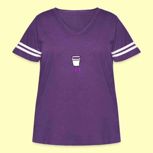 ICE - Women's Curvy Vintage Sport T-Shirt