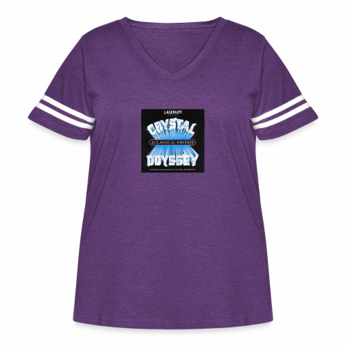 Laserium Crystal Osyssey - Women's Curvy Vintage Sport T-Shirt