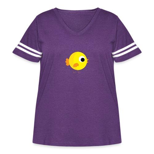 HENNYTHEPENNY1 01 - Women's Curvy Vintage Sport T-Shirt