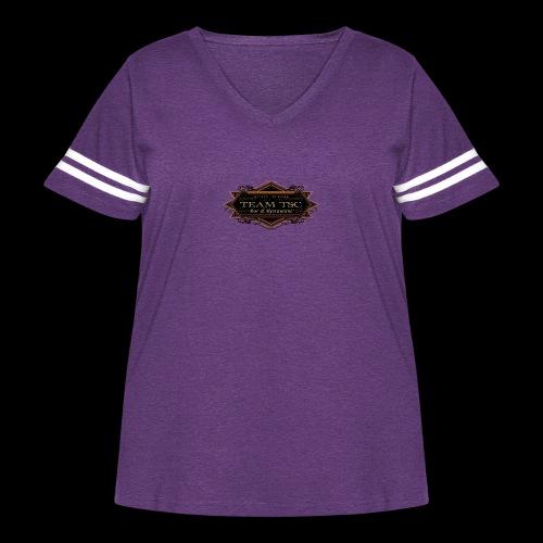 teamTSC badge03 Bar - Women's Curvy Vintage Sport T-Shirt