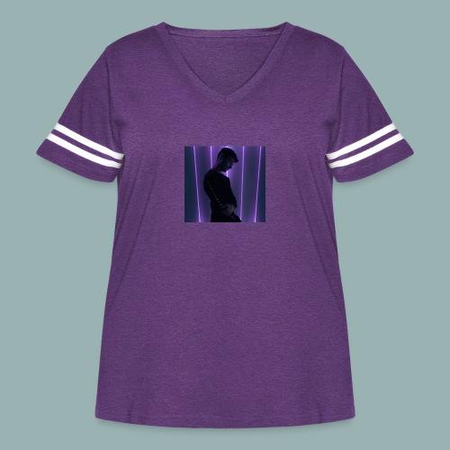 Europian - Women's Curvy Vintage Sport T-Shirt