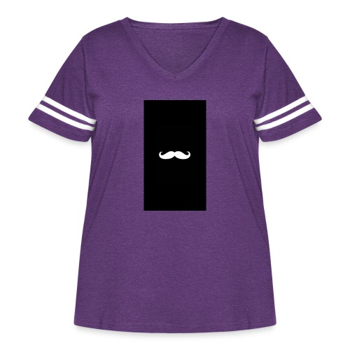 Mustache - Women's Curvy Vintage Sport T-Shirt