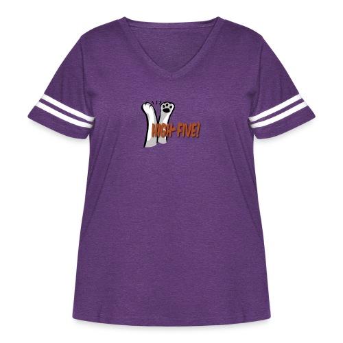 hi5 paws - Women's Curvy Vintage Sport T-Shirt