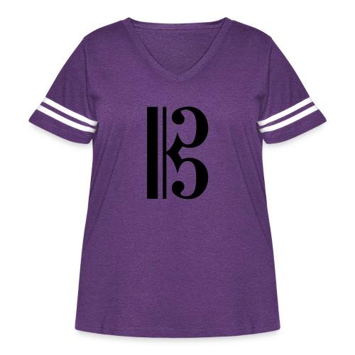 Tenor/Alto Clef - Women's Curvy Vintage Sport T-Shirt