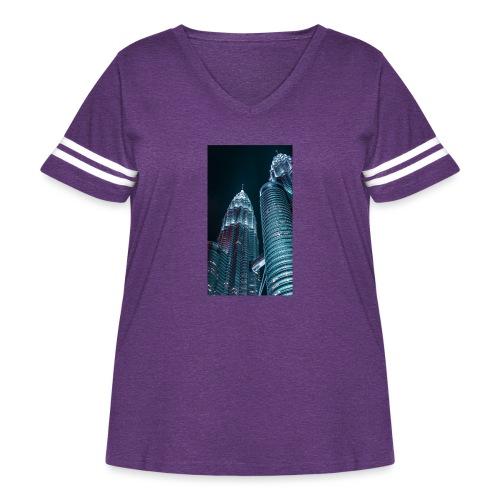 C0618608 28FC 4668 9646 D9AC4629B26C - Women's Curvy Vintage Sport T-Shirt
