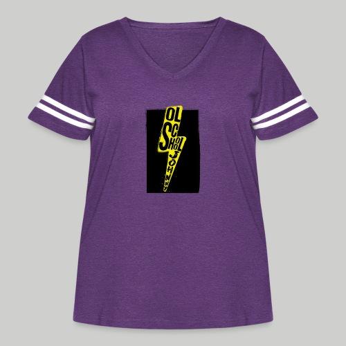 Ol' School Johnny Colour Lightning - Women's Curvy Vintage Sport T-Shirt