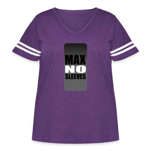nosleevesgrayiphone5 - Women's Curvy Vintage Sport T-Shirt