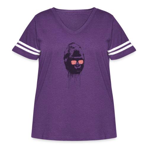 xray gorilla - Women's Curvy Vintage Sport T-Shirt