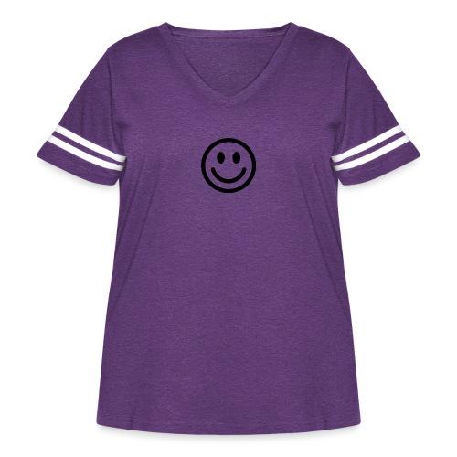 smile dude t-shirt kids 4-6 - Women's Curvy Vintage Sport T-Shirt