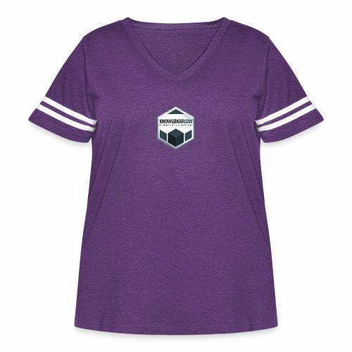 KnowledgeFlow Cybersafety Champion - Women's Curvy Vintage Sports T-Shirt