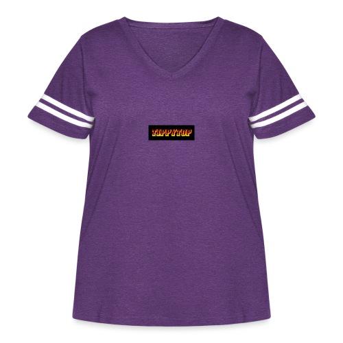 clothing brand logo - Women's Curvy Vintage Sport T-Shirt