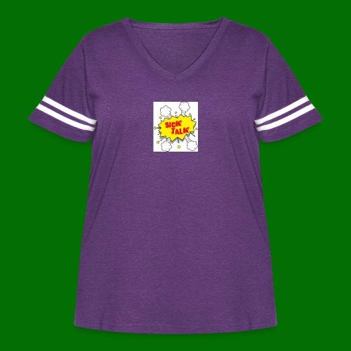 Sick Talk - Women's Curvy Vintage Sport T-Shirt