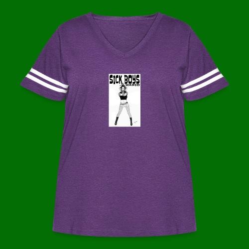 Sick Boys Girl2 - Women's Curvy Vintage Sport T-Shirt