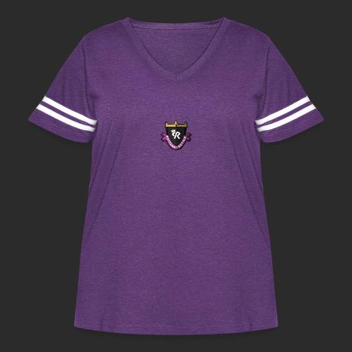 Puissant Royale Logo - Women's Curvy Vintage Sport T-Shirt