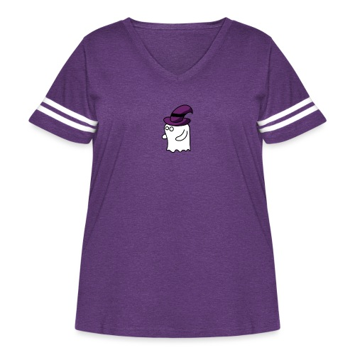 Little Ghost - Women's Curvy Vintage Sports T-Shirt
