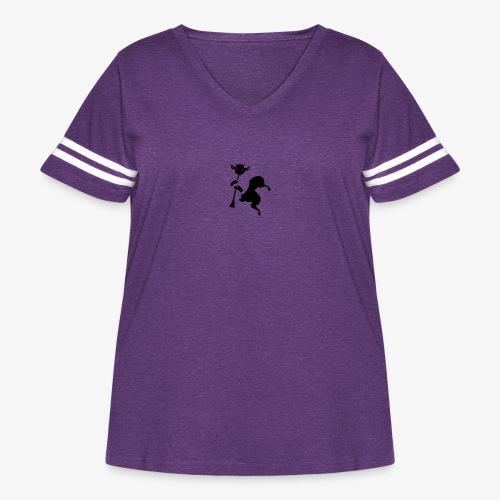imagika black - Women's Curvy Vintage Sport T-Shirt