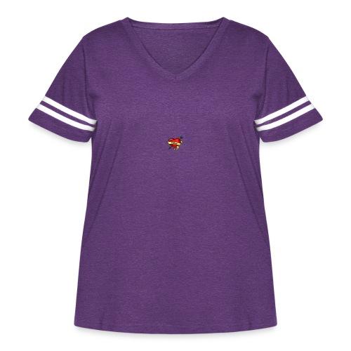 i love mom - Women's Curvy Vintage Sport T-Shirt