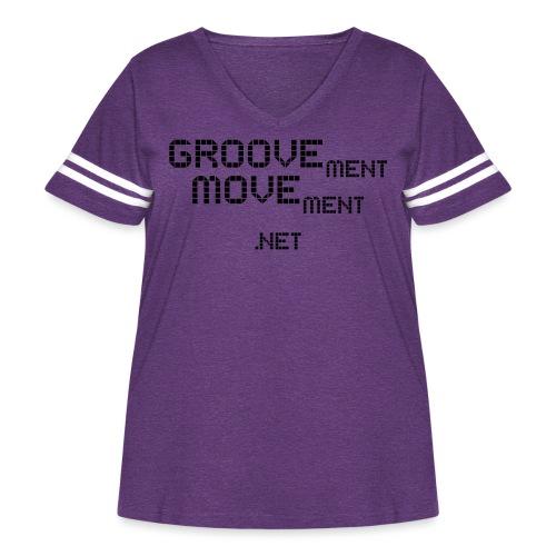 GROOVEment MOVEment 3 - Women's Curvy Vintage Sports T-Shirt