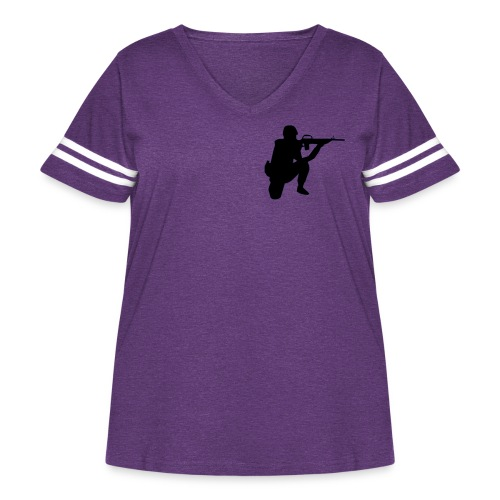 Infantry at ready for action. - Women's Curvy Vintage Sport T-Shirt