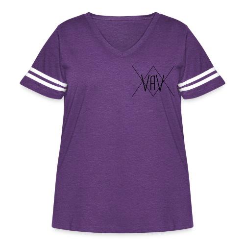 VaV Hoodies - Women's Curvy Vintage Sport T-Shirt