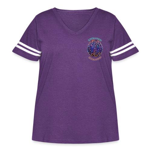 IntellTuss Shirt (pocket design) - Women's Curvy Vintage Sport T-Shirt