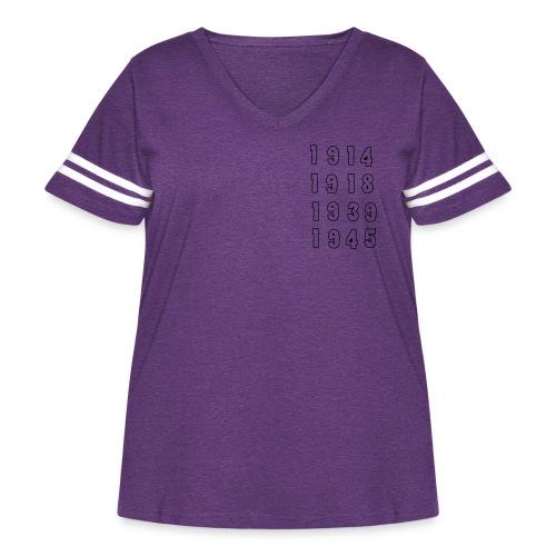 Great War Dates - Women's Curvy Vintage Sport T-Shirt