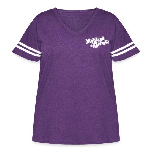 Official Logo Vector 1 Color - Women's Curvy Vintage Sports T-Shirt