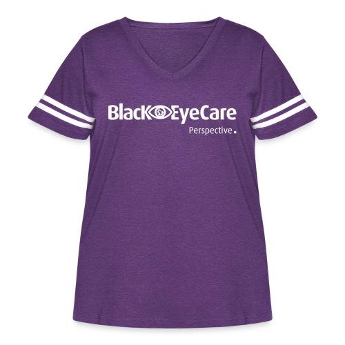 02 BlackEYeCareLogo Transparent 2 - Women's Curvy Vintage Sport T-Shirt