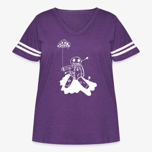 voodoo inv - Women's Curvy Vintage Sport T-Shirt