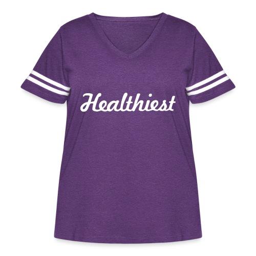 Sick Healthiest Sticker! - Women's Curvy Vintage Sport T-Shirt