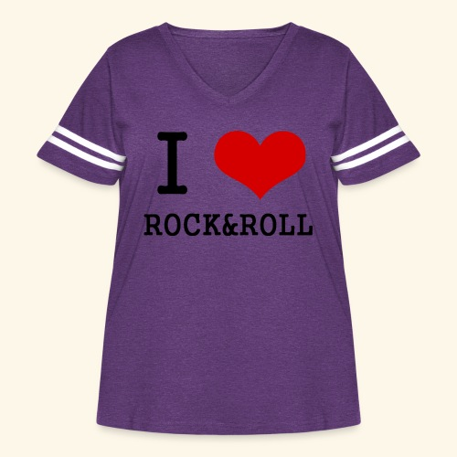 I love rock and roll - Women's Curvy Vintage Sport T-Shirt