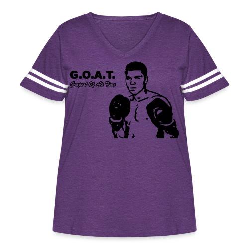 grapest ali - Women's Curvy Vintage Sports T-Shirt