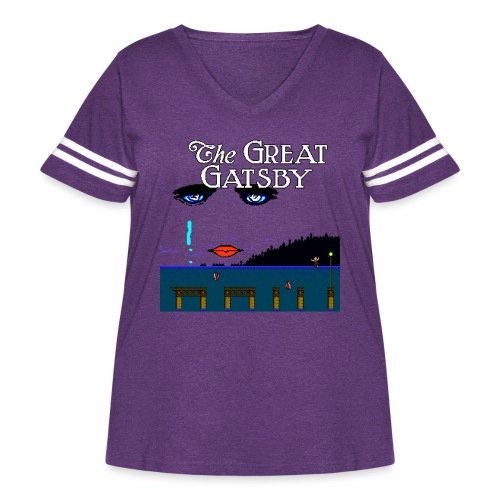 Great Gatsby Game Tri-blend Vintage Tee - Women's Curvy Vintage Sport T-Shirt