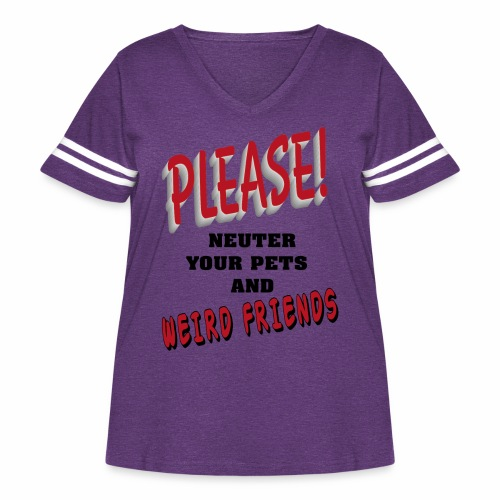 Weird Friends - Women's Curvy Vintage Sport T-Shirt