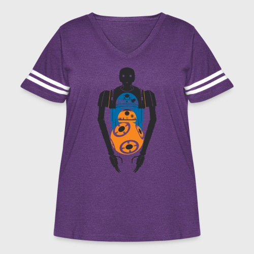 Star Wars Rogue One The Droids You're Looking For - Women's Curvy Vintage Sport T-Shirt
