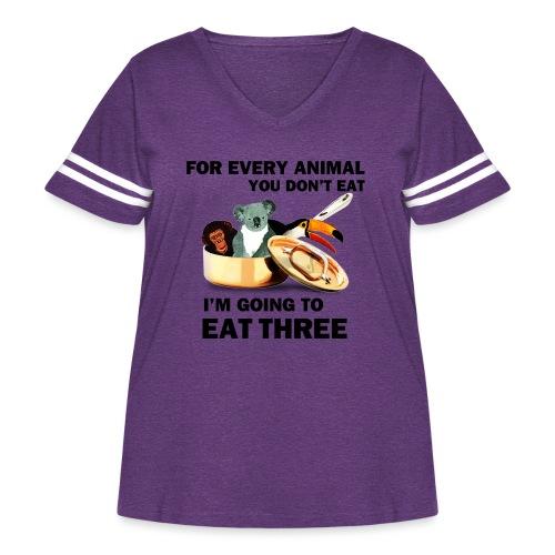 Every Animal Maddox T-Shirts - Women's Curvy Vintage Sport T-Shirt