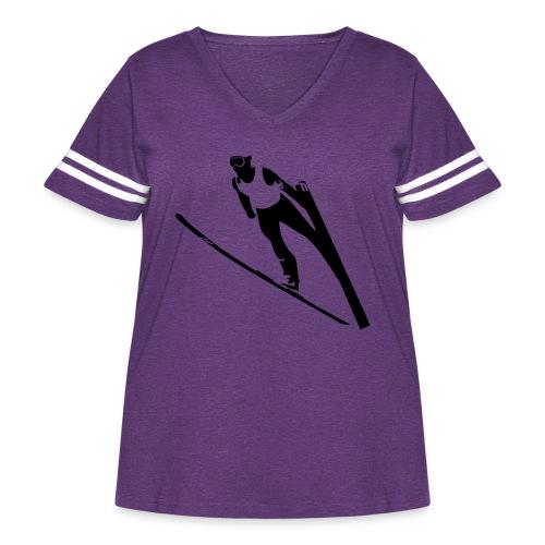 Ski Jumper - Women's Curvy Vintage Sport T-Shirt