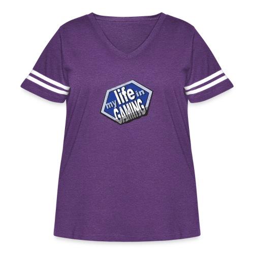 My Life In Gaming sticker - Women's Curvy Vintage Sport T-Shirt