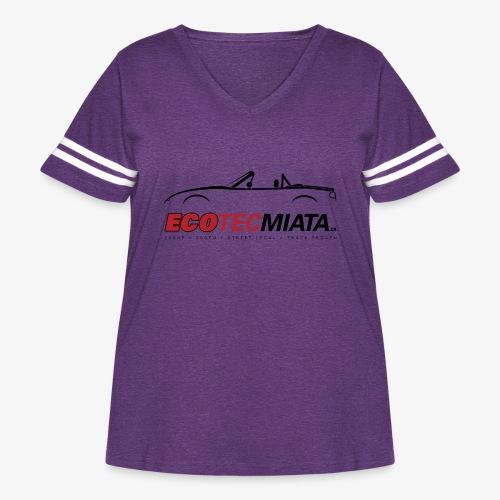 Ecotec Miata Logo - Women's Curvy Vintage Sport T-Shirt