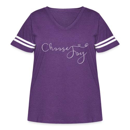 Choose Joy - Women's Curvy Vintage Sport T-Shirt