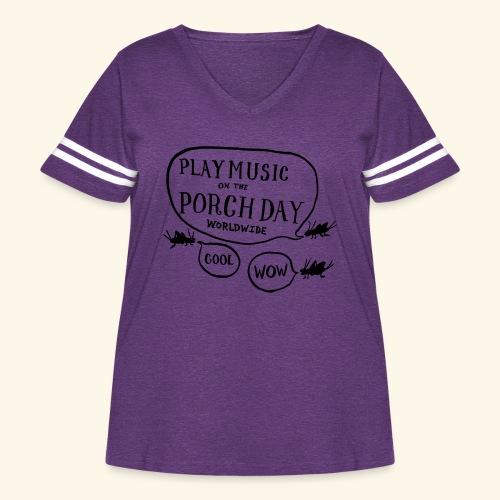 Crickets - Women's Curvy Vintage Sport T-Shirt