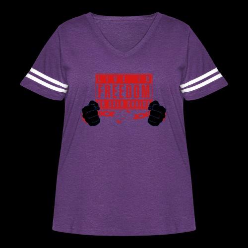 Live Free - Women's Curvy Vintage Sport T-Shirt