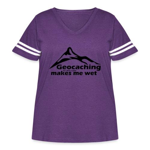 Wet Geocaching - Women's Curvy Vintage Sport T-Shirt