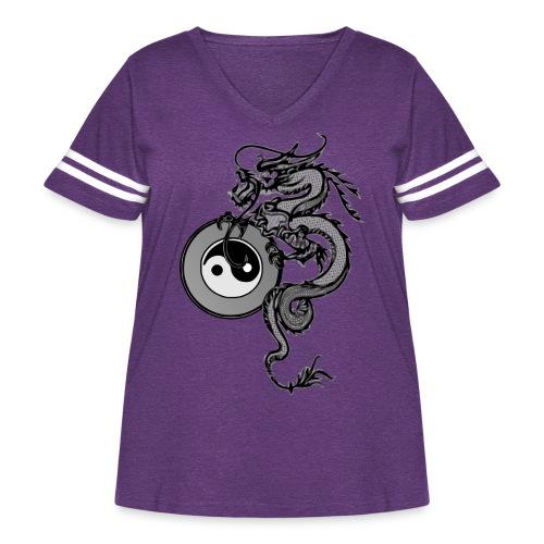dragon - Women's Curvy Vintage Sport T-Shirt