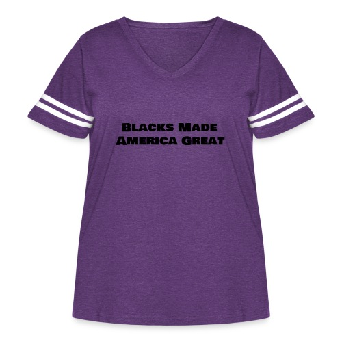 (blacks_made_america) - Women's Curvy Vintage Sport T-Shirt