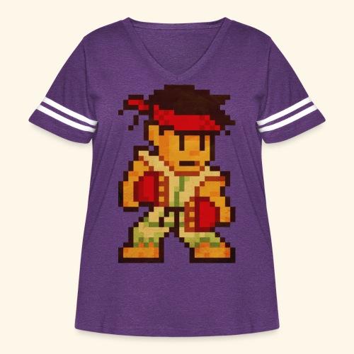 Pixelfighter Karateka - Women's Curvy Vintage Sport T-Shirt